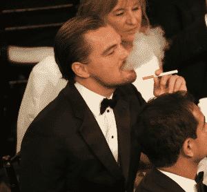 Leonardo Dicaprio Blowing Clouds