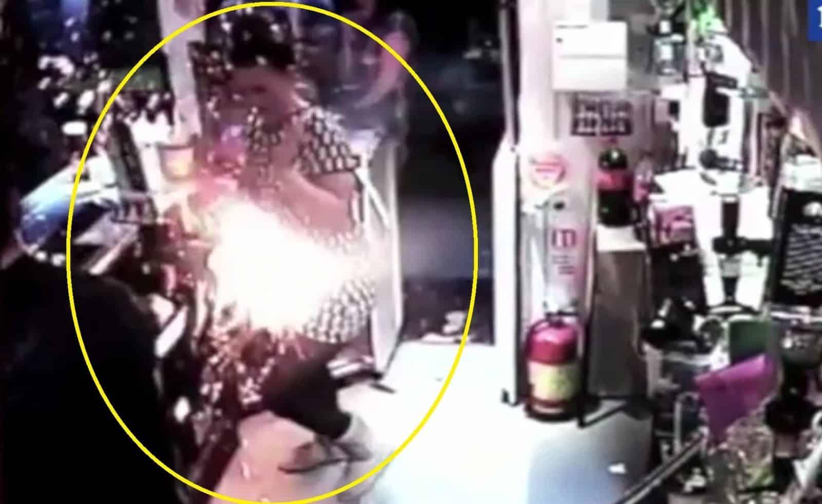 E-Cigarette explosion in bar