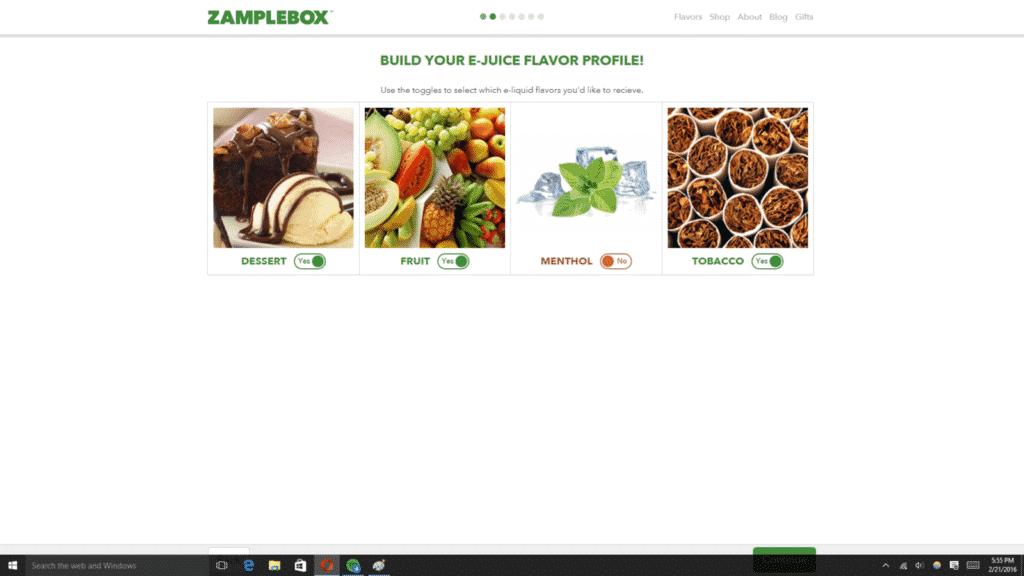 zamplebox flavor profile
