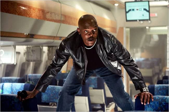 Samuel L. Jackson on airplane