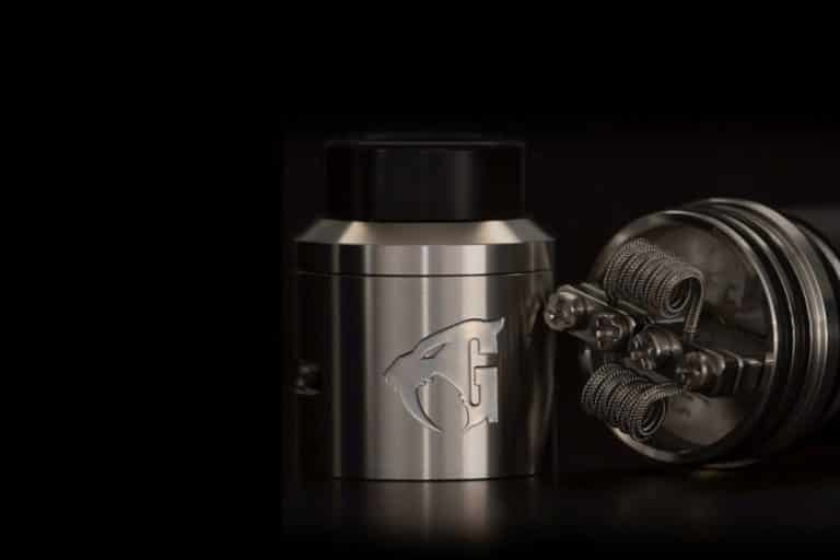 528 Custom Vapes RDA on black background