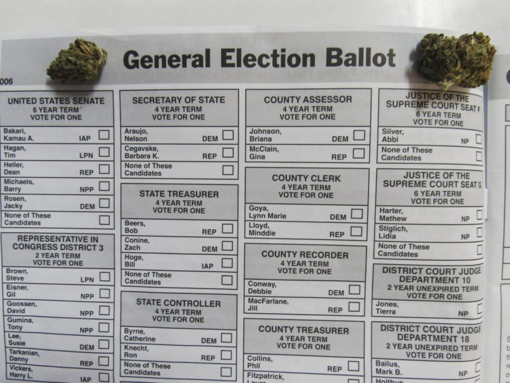 Weed on a general election ballot