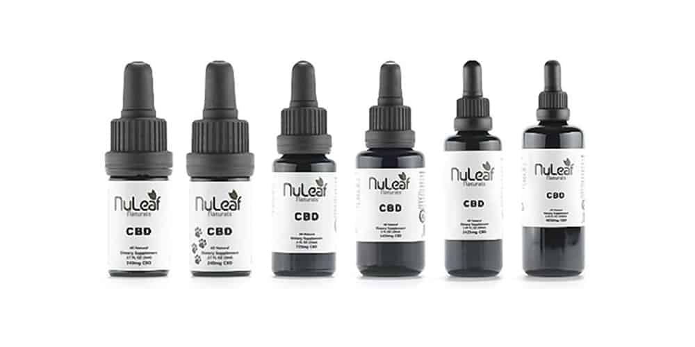 bottles of NuLeaf Naturals CBD oil