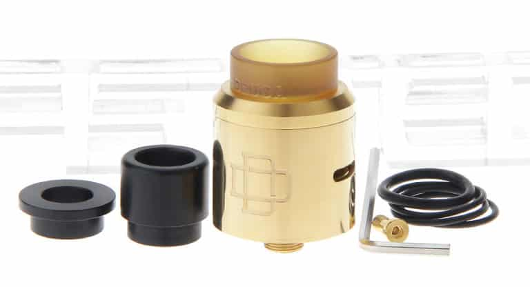 Gold Augvape Druga Top Cap Kit disassembled
