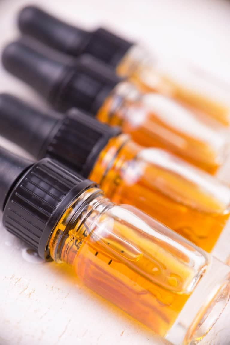 cbd e-liquid bottles