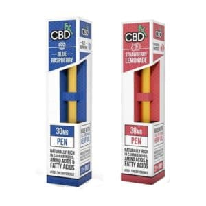 Blueberry and Strawberry CBDFX vape pens