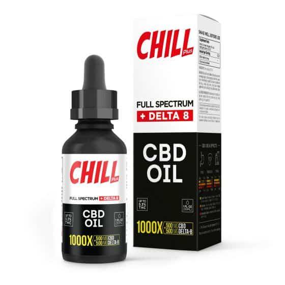 Chill Plus Full Spectrum Delta-8 CBD Oil