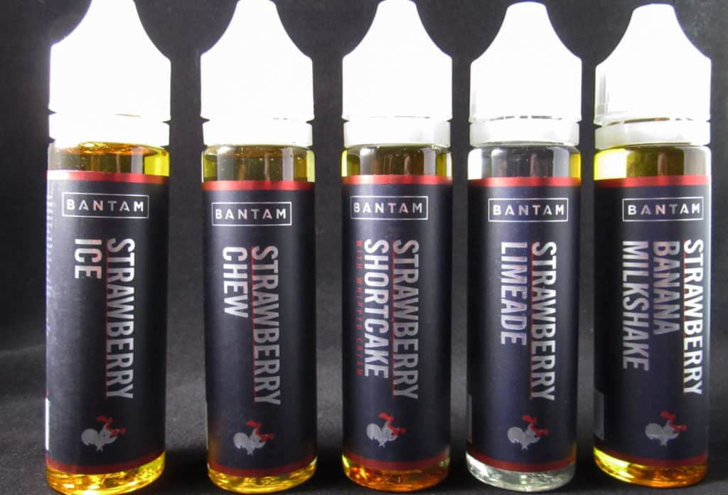 Bantam e-liquids lined up
