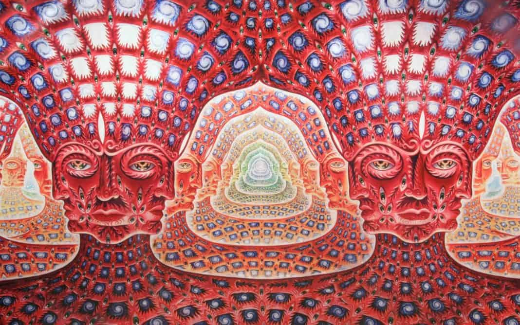visual of a DMT trip