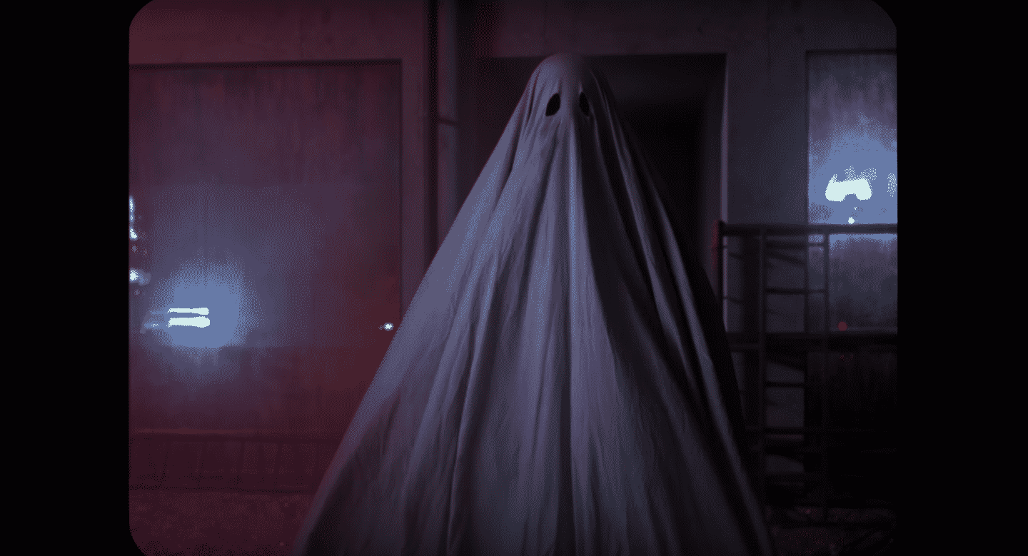 ghost wearing white sheet