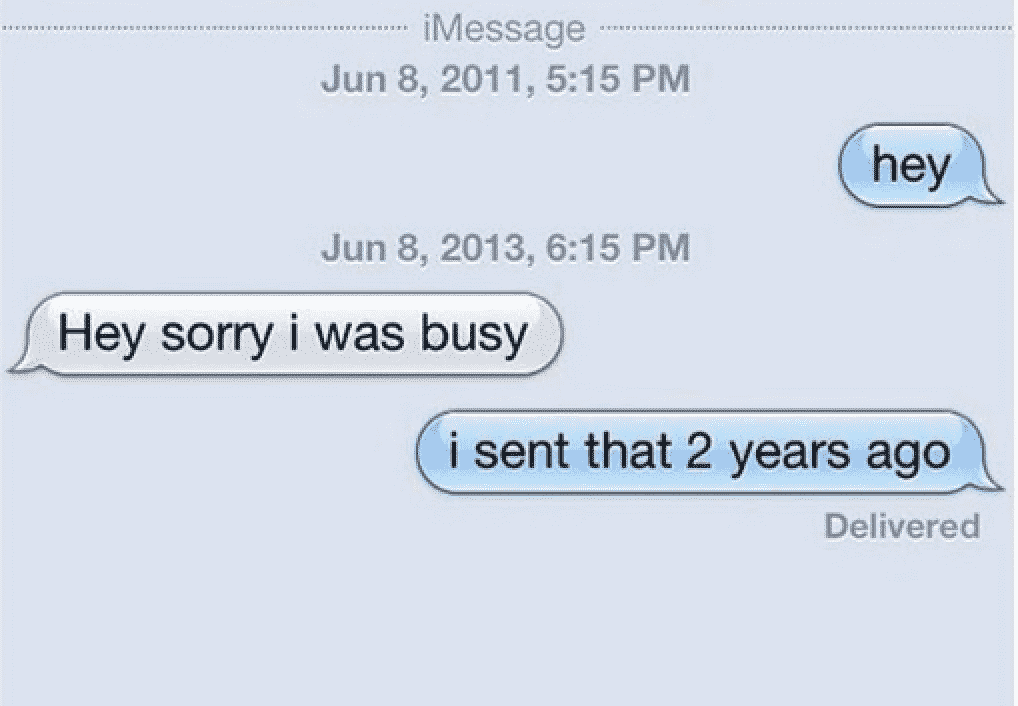 ghosting text message