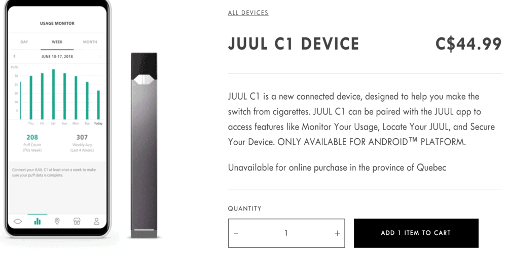 Juul C1 bluetooth vape
