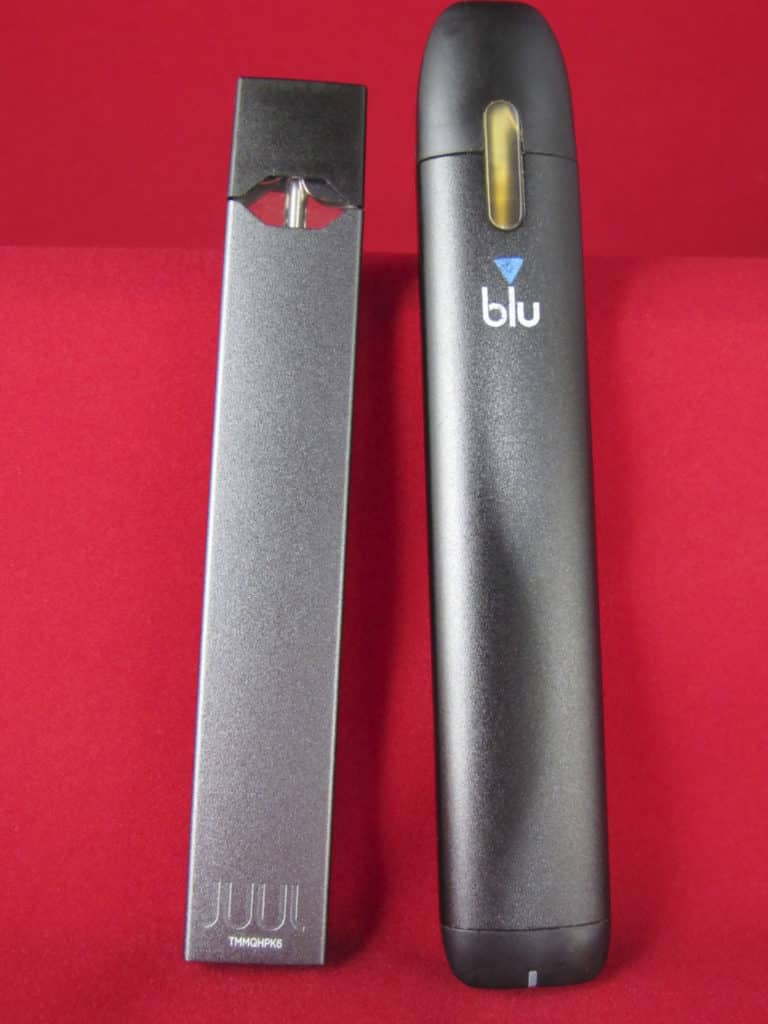 juul and myblu side by side