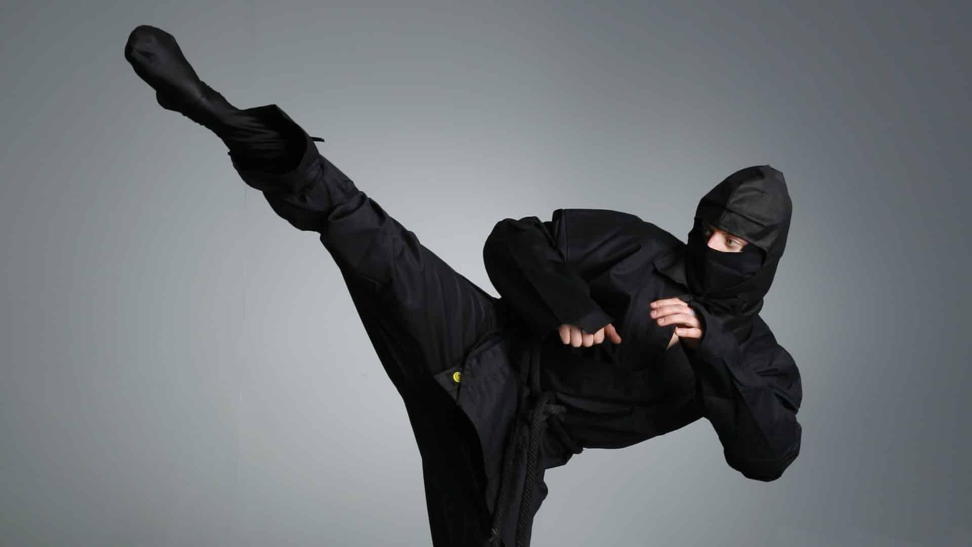 Ninja kicking