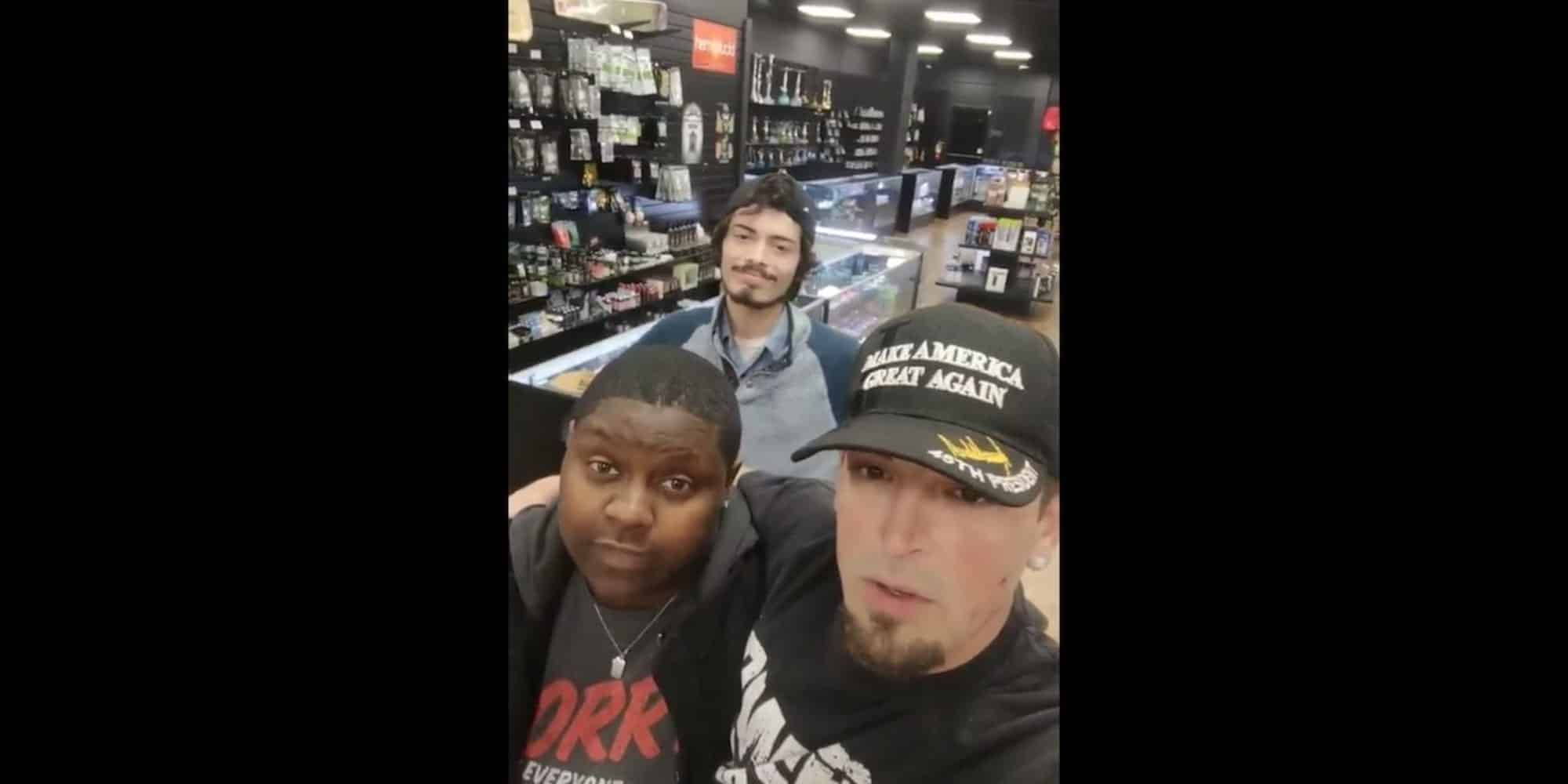Pro-Trump customer returns to store and films Facebook video