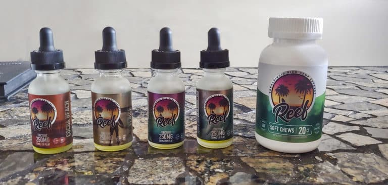 Reef CBD gummies and tinctures side-by-side