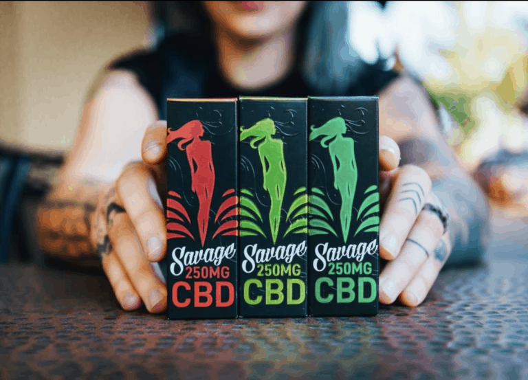 Savage CBD products on table
