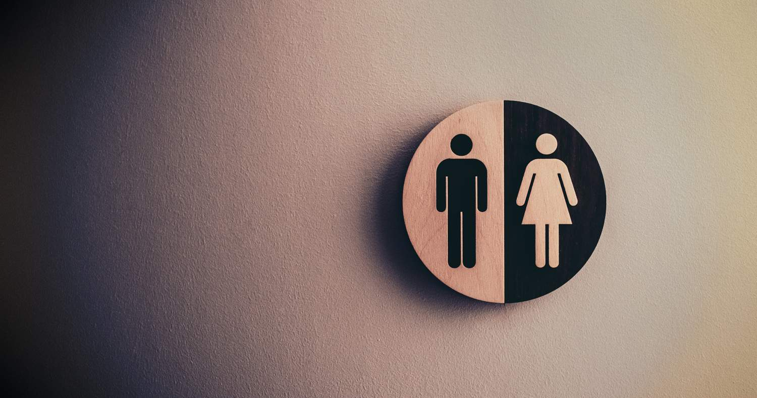 bathroom sign men and women