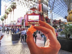 Marijuana gummy in downtown Las Vegas
