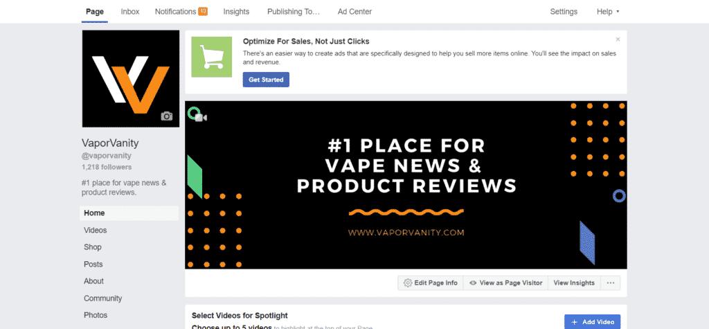 vapor vanity facebook