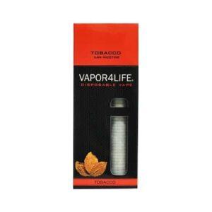 vapor4life disposable ecig tobacco flavor
